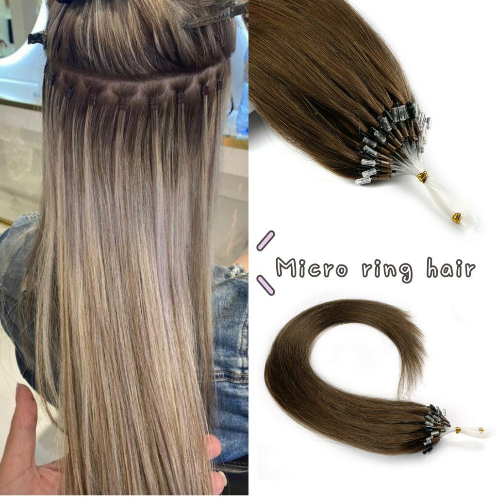 Neitsi Straight Loop Micro Ring Hair 100% Human Micro Bead Links Machine Made Remy Hair Extension 16″ 20″ 24″ 1g/s 50g 20 Colors